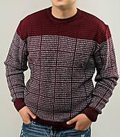 Бордовый мужской свитер размер М