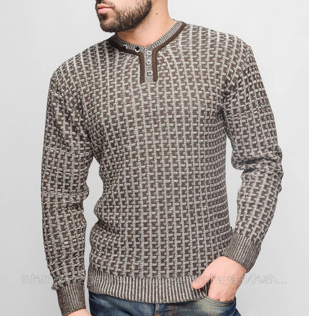 Ярко синий мужской свитер ХЛ