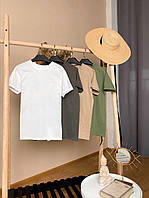 Жіноча футболка вільного крою однотон XS, S, M, L   женская базовая футболка свободная принт, 4 цвета
