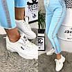 Жіночі спортивні штани, тканина джинс-бенгалин, розміри 42, 44, 46, 48, 50, 52, фото 3