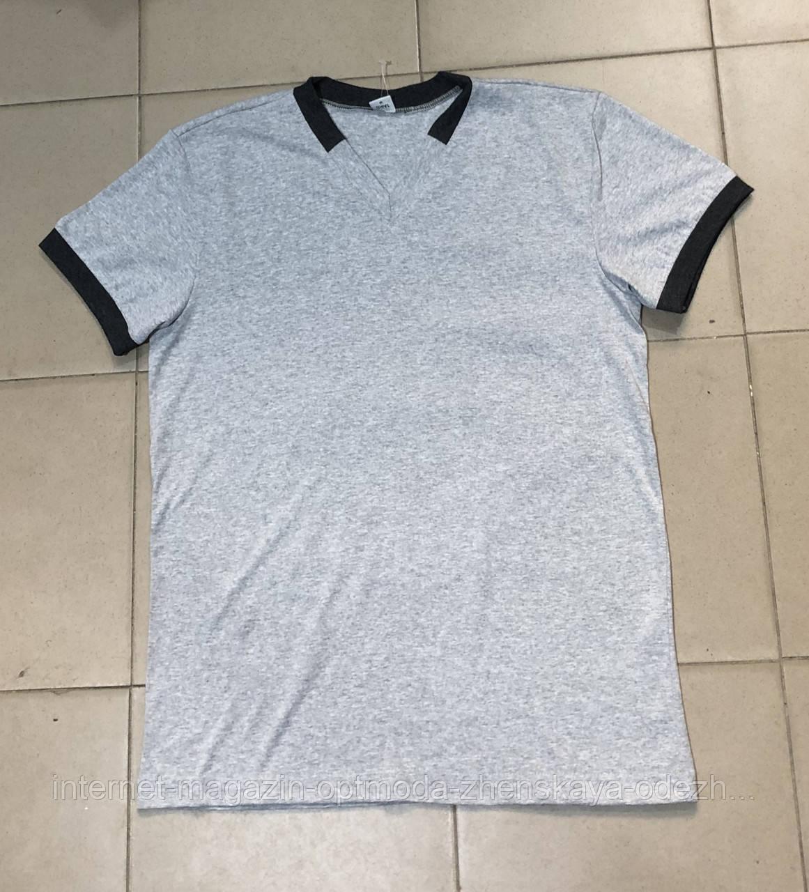 """Стильная мужская футболка с V-образным вырезом """"Джеки"""""""