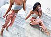 Летние женские брюки со змейками, ткань королевский атлас, размер 42-44, фото 2