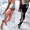 Летние женские брюки со змейками, ткань королевский атлас, размер 42-44, фото 3