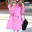 Черная зимняя куртка женская на синтепоне, 42/44, фото 7