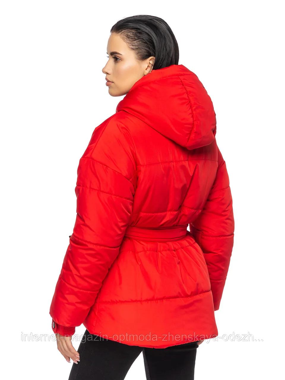 """Теплая женская зимняя куртка с поясом на пряжке """"Дорети"""""""
