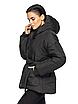 """Теплая женская зимняя куртка с поясом на пряжке """"Дорети"""", фото 4"""