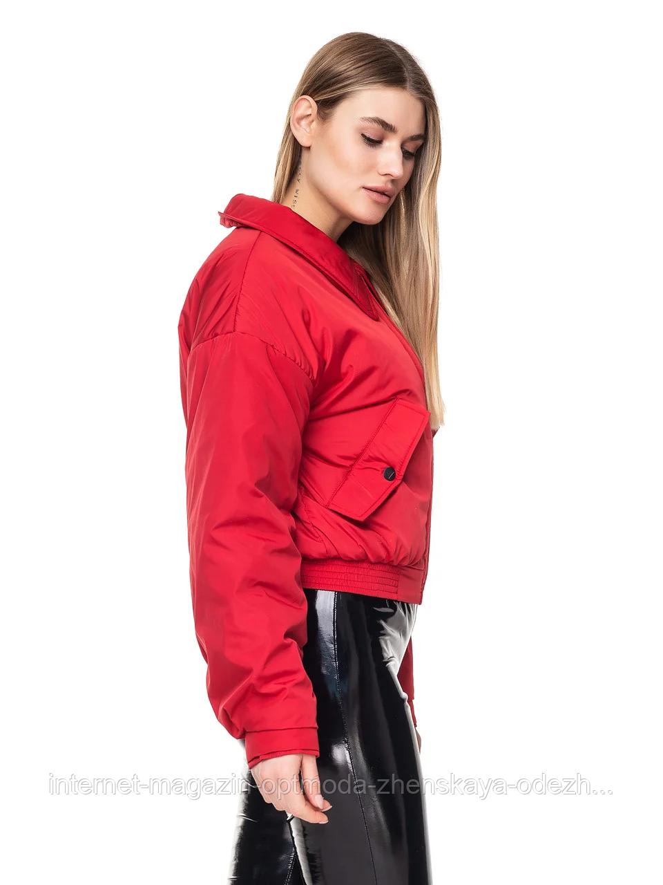 """Короткая демисезонная женская куртка с отложным воротником """"Любава"""""""