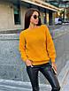 Свободный вязаный женский свитер, размер универсальный 42-48, расцветки разные, фото 2