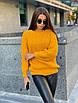 Свободный вязаный женский свитер, размер универсальный 42-48, расцветки разные, фото 3