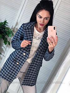 """Классный женский пиджак в стильную клетку """"Дебора"""""""