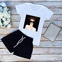 Жіночі трикотажні шорти міні XS, S, M, L чорні | женские трикотажные спортивные шорты черные