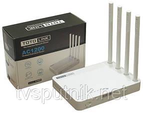 Wi-Fi Роутер Totolink A702R (Wi-Fi 300M@2.4G+867M@5G, 4 антенны, 4xLAN)