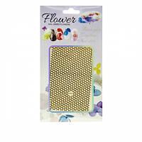 Наклейка гибкая Nail sticker (Сеточка золото)