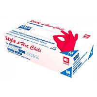 Перчатки нитриловые без пудры Ampri Style Hot Chili, красные, 100 шт/1 уп