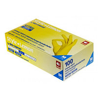 Перчатки нитриловые без пудры Ampri STYLE, лимонные, 100 шт/ 1 уп