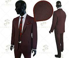 Чоловічий костюм бордо Lode 18