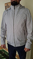 Мужская куртка ветровка бомбер летняя весна осень бомбер белая короткая спортивная классика тонкая молодежная