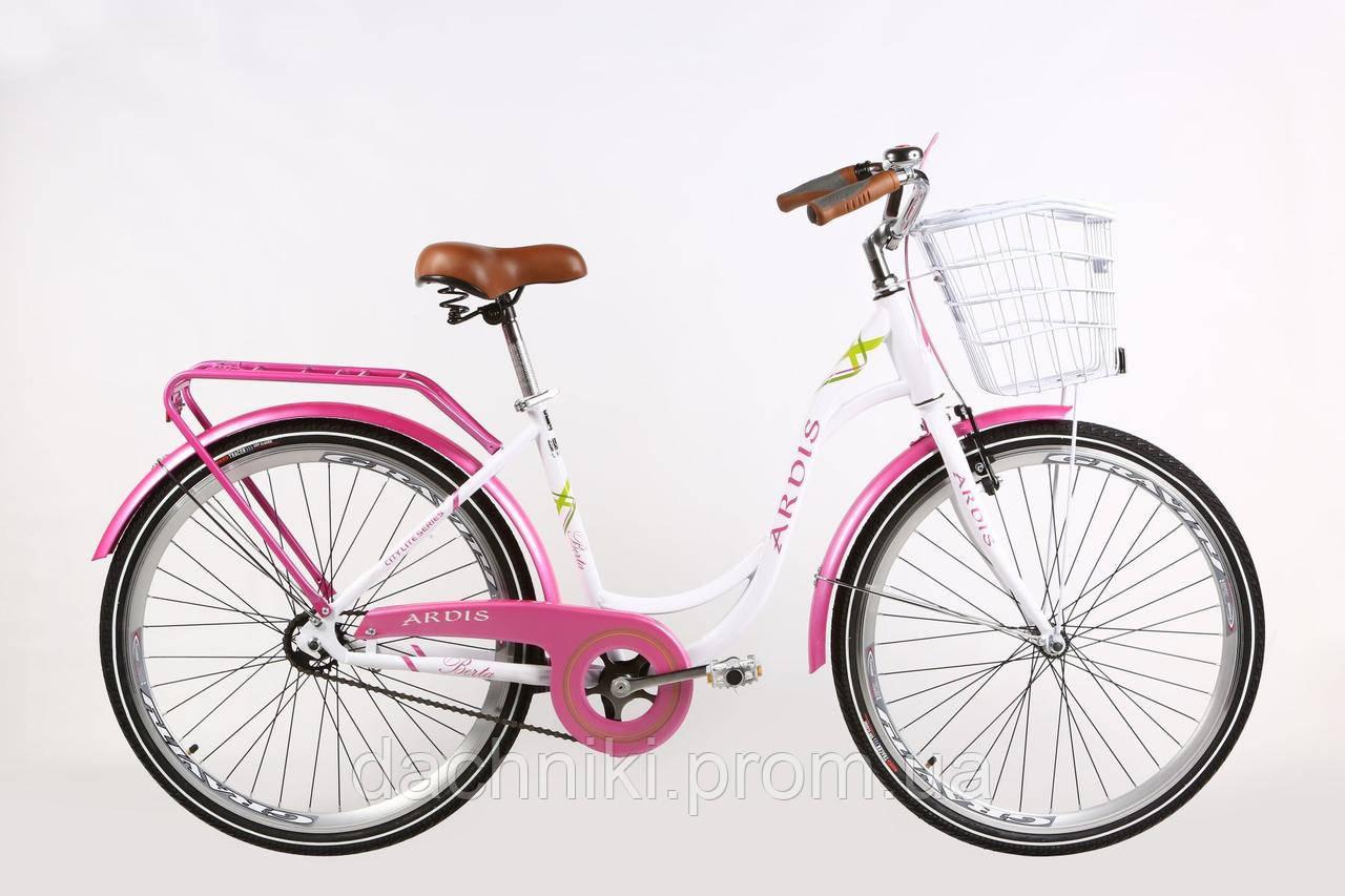 """Велосипед Ardis Berta 28"""" Белый/Розовый (0931)"""