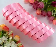 Лента атласная LiaM Светло-розовая 1,2 см ширина 25 ярдов