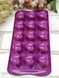 Силиконовая форма для конфет, желеек или льда 21*11*3 см., 55/40 (цена розничная за 1 шт. + 15 гр.), фото 2