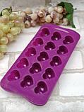 Силиконовая форма для конфет, желеек или льда 21*11*3 см., 55/40 (цена розничная за 1 шт. + 15 гр.), фото 3