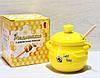 """Медовница Bonadi Бджілки """"Sweet Honey"""" з дерев'яною ложкою, 450мл (979-312)"""
