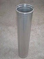 Труба дымоходная нерж. 100 мм 1 м. толщина метала 0,5