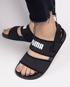 Сандали Puma Sandal Black/ босоножки черные/ Текстиль/36-41
