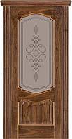 Двері міжкімнатні Terminus Модель 41 Горіх американський колір (засклена)