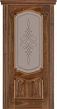 Дверь межкомнатная Terminus Модель 41 Орех американский цвет (застекленная)
