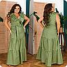 Платье длинное в полоску, с 48 по 62 размер