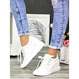 Женские сникерсы белые кожаные 7143-28, фото 2