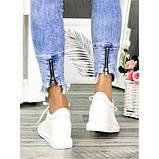 Женские сникерсы белые кожаные 7143-28, фото 3
