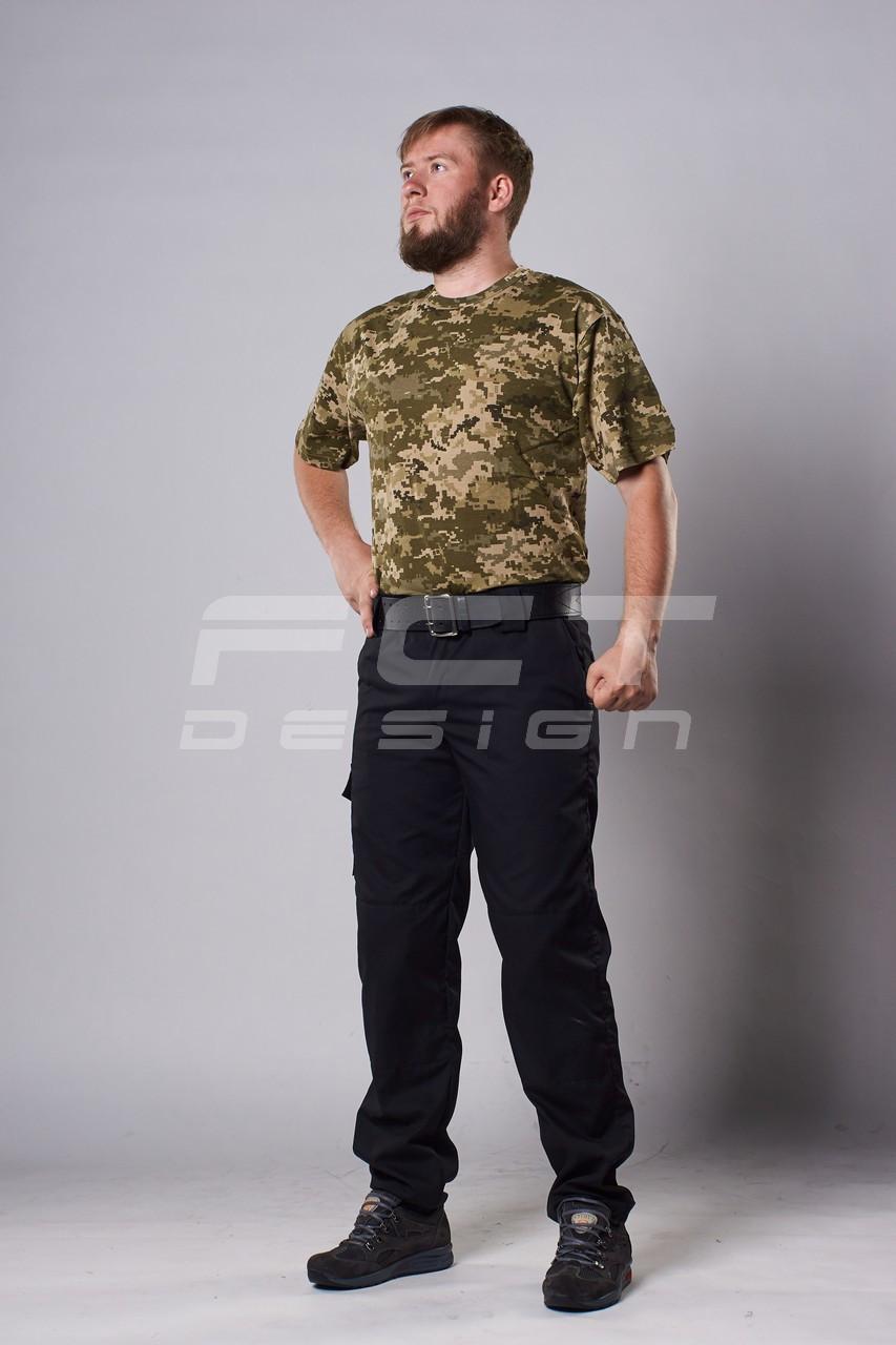 Футболка новый пиксель ВСУ ( ЗСУ )  с погонами и нагрудным карманом