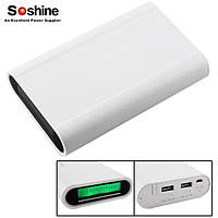 Power Bank Soshine E3 Dual USB, 4х18650, ток 2.1A, фото 1