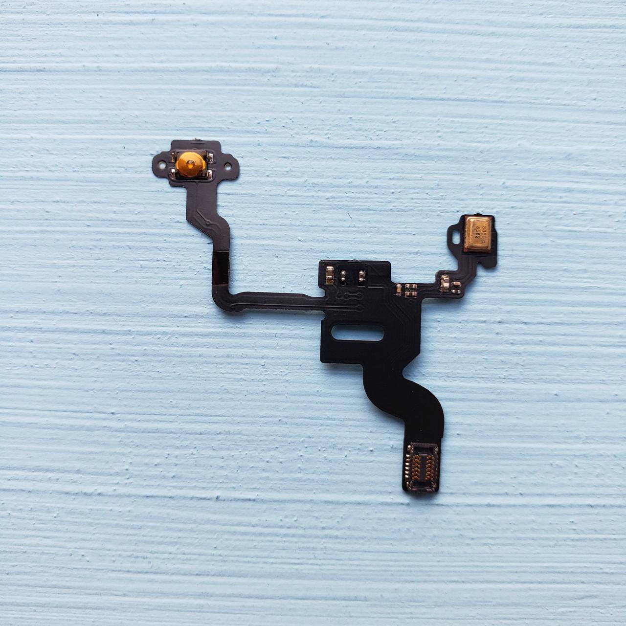 Шлейф Apple iphone 4 кнопки включения, подсветки дисплея, с компонентами