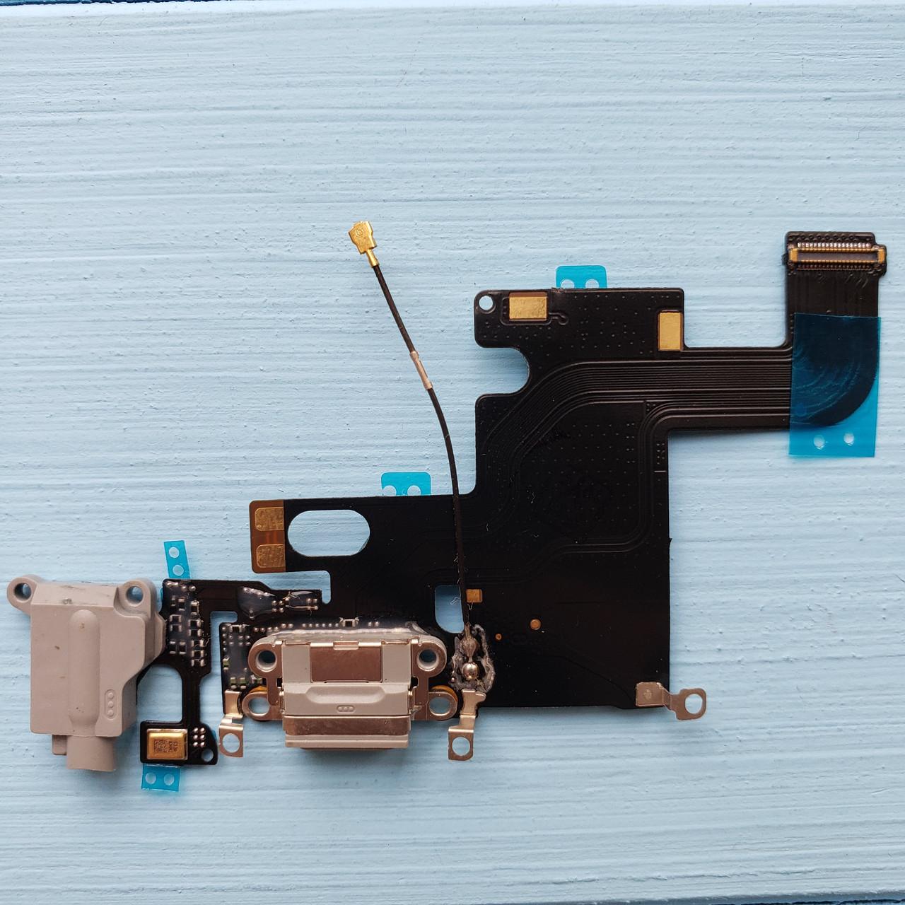 Шлейф Apple iPhone 6 коннектора зарядки, коннектора наушников, с компонентами Space Gray