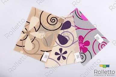 """Тканинні ролети відкритого типу з тканини """"Квіти"""""""