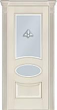 Дверь межкомнатная Terminus Модель 55 Ясень Crema цвет (застекленная)