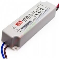 Источник питания LPV-20-12: AC/DC, IP67, 20W