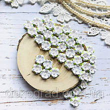 Цветы Незабудки 15мм Белые