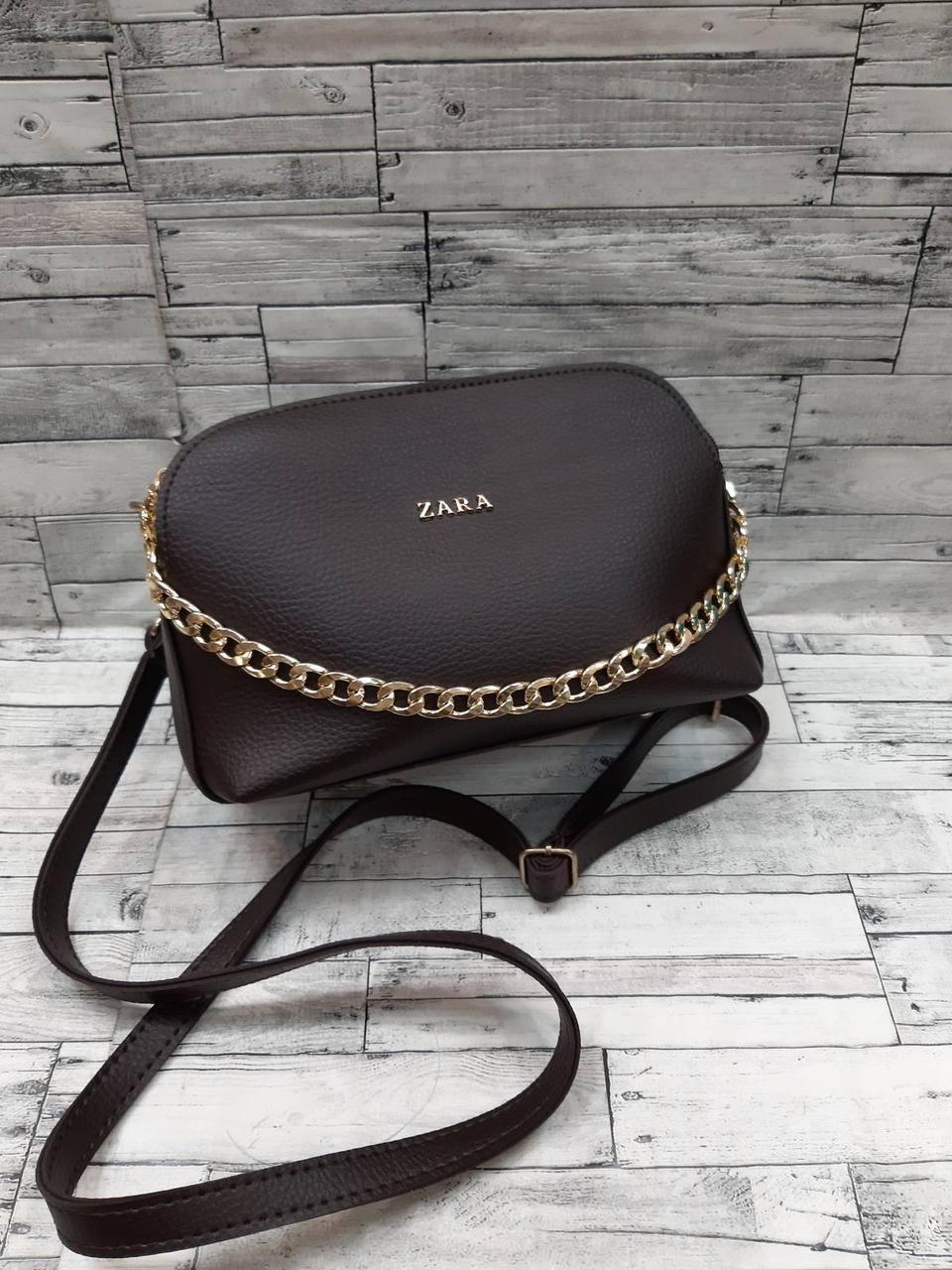 Женская Сумочка клатч с цепочкой ZARA  кож.зам на плечо сумка