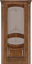 Дверь межкомнатная Terminus Модель 50 Дуб браун цвет (застекленная)