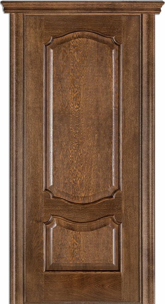 Дверь межкомнатная Terminus Модель 41 Дуб браун цвет (глухая)