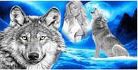 Пляжное полотенце Два волка