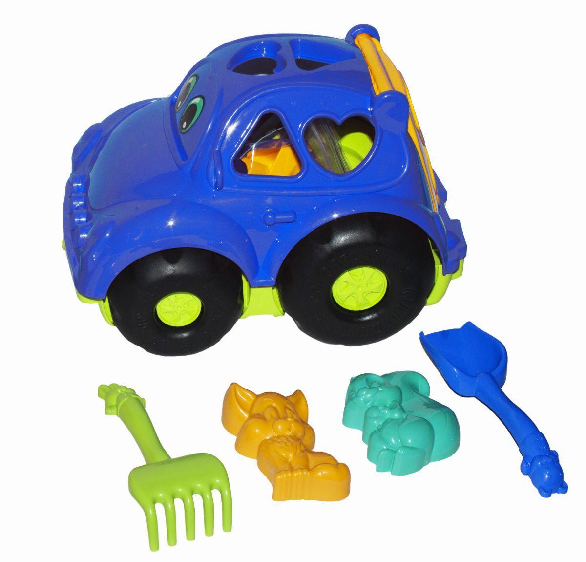 Сортер-машинка Автошка синяя Colorplast
