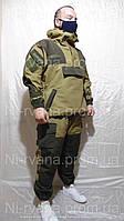 """Костюм тактический мужской Горка-4 """"Барс"""" Палатка вставки рип-стоп Олива темные накладки анорак-брюки"""