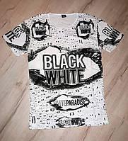 Мужская футболка Black White Л, ХЛ