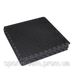 Защитный коврик для кардиотренажера (комплект:  4 секции) 120*120*1,2 см