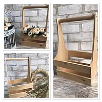 Ящик для творчості із дерева та фанери , 33х20.5х17.5 см., 160/130 (ціна за 1 шт. + 30 гр)